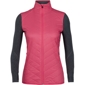 Icebreaker Descender Hybrid Jacket Women Black/Jet Heather/Prism